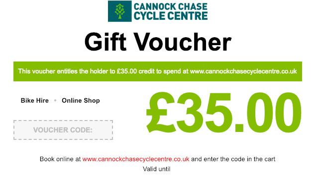Cannock Chase Cycle Centre Gift Voucher